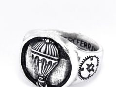 anello mongolfiera argento
