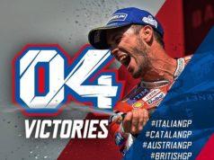 Andrea Dovizioso vince il GP di Silverstone, Instagram