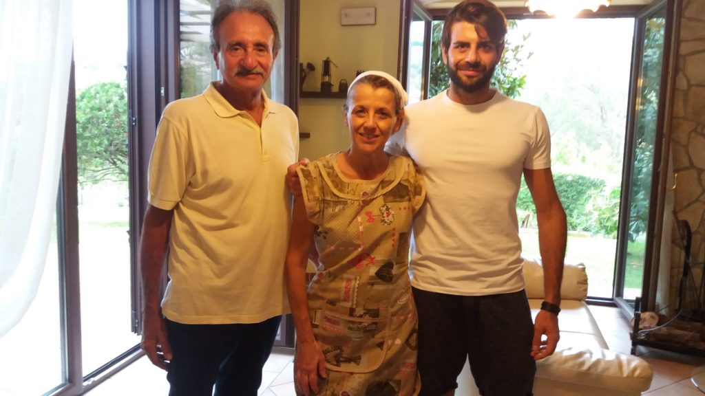 Angelo e Francesco Veltre e Anna Canneva