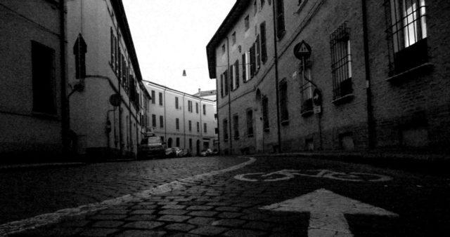 via Piero Maroncelli a Forlì, foto di Flavio Milandri
