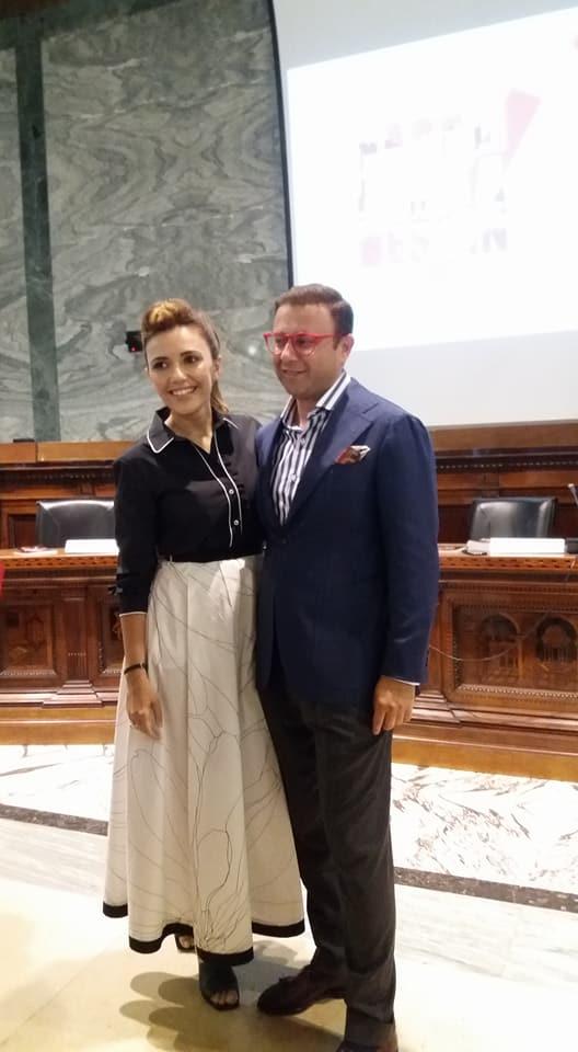 Maurizio Martiniello e Serena Rossi