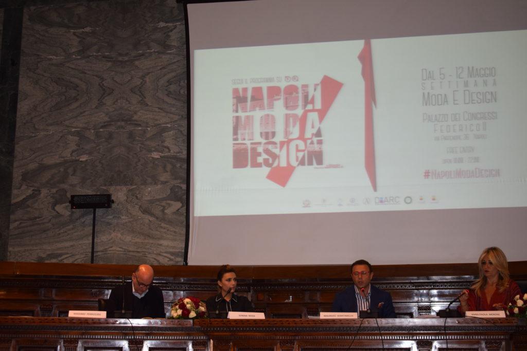 conferenza stampa Napoli Moda Design