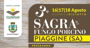 Sagra del fungo porcino 2018 a Piaggine