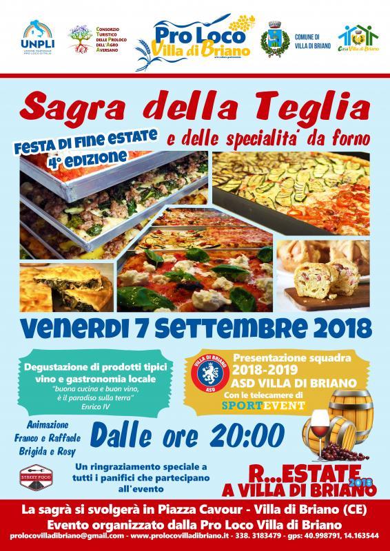 Sagra della Teglia e delle specialità da forno a Villa di Briano, Caserta