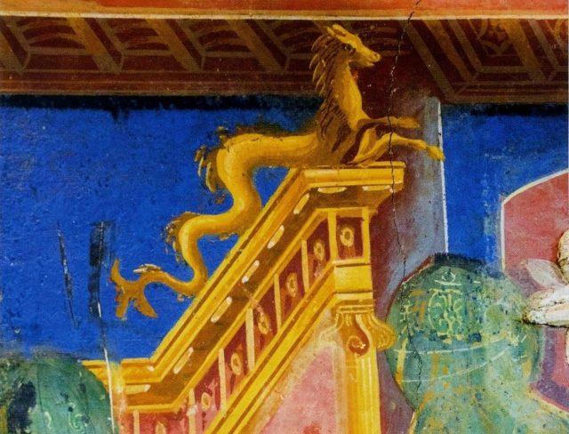 Villa Romana di Positano, affresco
