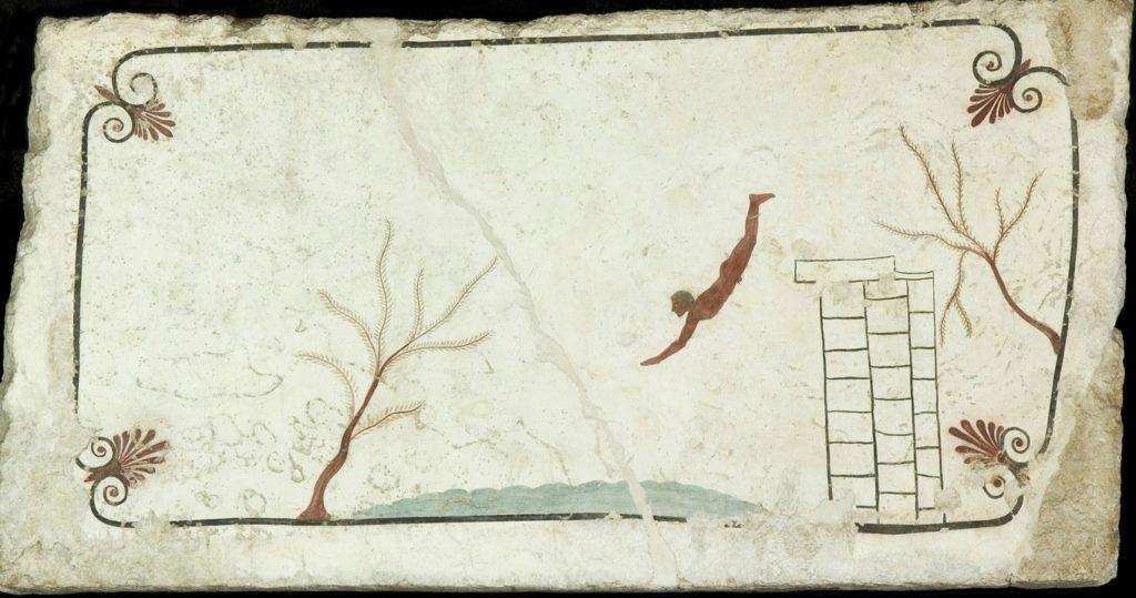 Paestum - Tomba del tuffatore, lastra di copertura