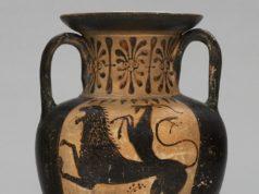 Anfora etrusca a figure nere, Civico Museo Archeologico Milano