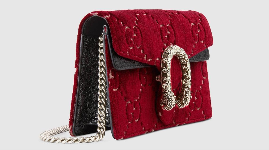 Gucci Mini borsa Dionysus in velluto rosso