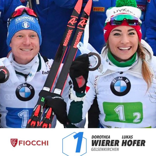 Lukas Hofer e Dorothea Wierer vincono il World Team Challenge Auf Schalke
