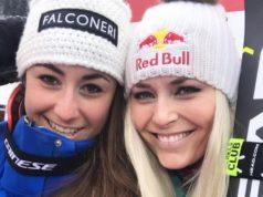 Lindsey Vonn con Sofia Goggia, un anno fa sorridevano