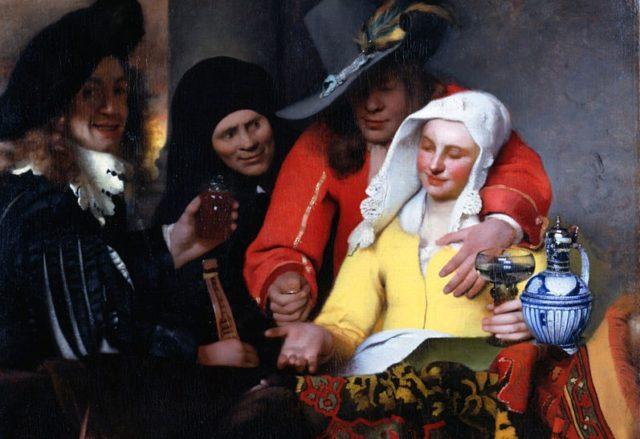 Mezzana, olio su tela di Jan Vermeer