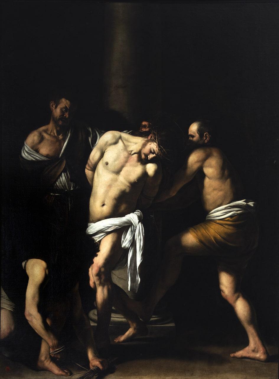 Caravaggio, Flagellazione olio su tela del 1607, Museo di Capodimonte