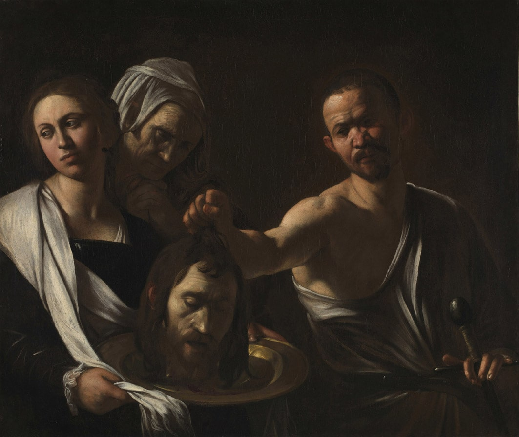 Caravaggio, Salome con la testa di Battista, Londra National Gallery