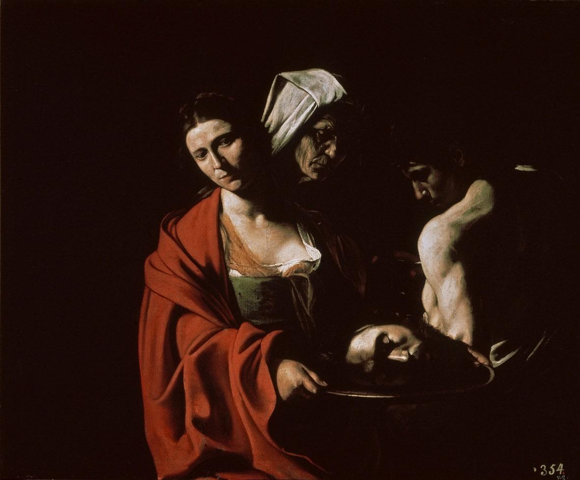 Caravaggio, Salomé con la testa di Battista, Madrid Palacio Real