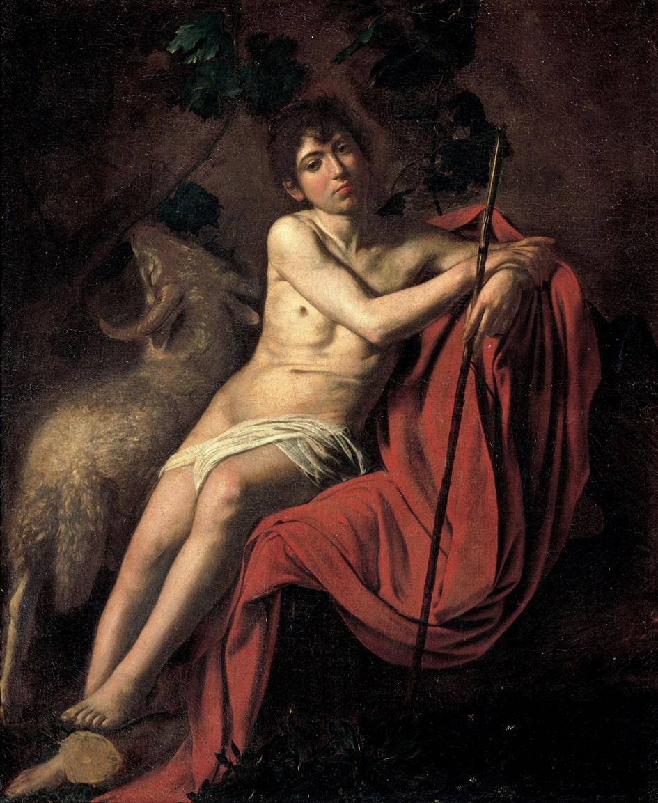 Caravaggio, San Giovanni Battista, Roma Galleria Borghese