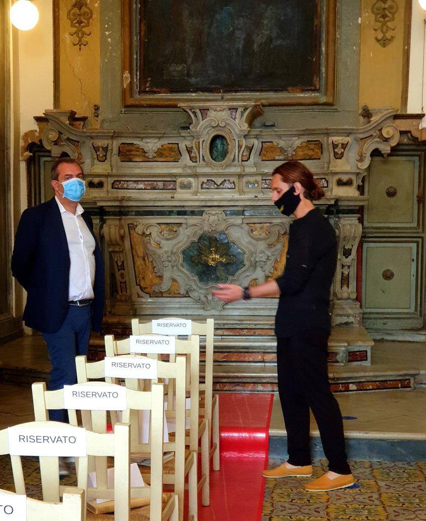 Il sindaco di Napoli Luigi de Magistris con Mauro Maurizio Palumbo
