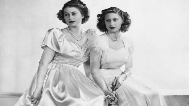 La regina Elisabetta II e la principessa Margaret