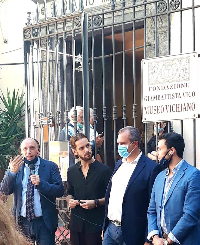 Vincenzo Pepe, Mauro Maurizio Palumbo, il sindaco de Magistris e Luigi Maria Pepe