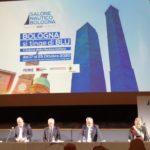da sx S.Bonaccini (pres. Emilia Romagna), Gennaro Amato (pres. SNB)_ Gianpiero Calzolari (pres. BolognaFiere) e Claudio Mazzanti (Comune Bologna)